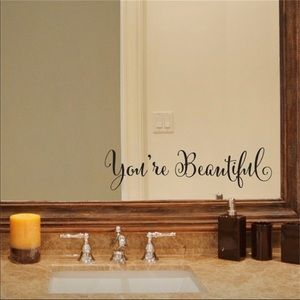 You're Beautiful Decal Mirror affirmation 🤗❤️